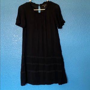 A short sleeve black summer dress